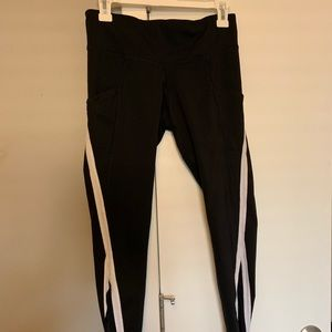 High waisted workout leggings w/ side pockets